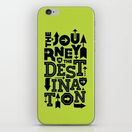 Green Journey Quote iPhone Skin