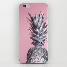 Pink And Silver Pineapple iPhone Skin