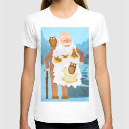Old Man with Bird Nests in Beard T-shirt