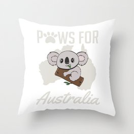 Raise Awareness And Save Australia So Wear This T-shirt Design Australia Strong Bushfire Be Strong Throw Pillow
