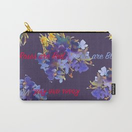 Violets are Blue Carry-All Pouch