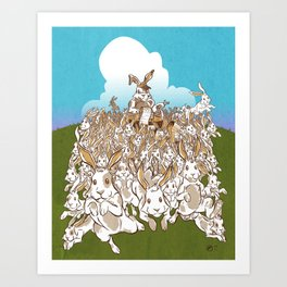 Multiplying Rabbits Art Print