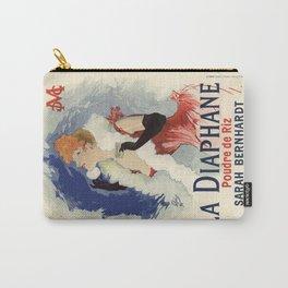 Belle Epoque vintage poster, Sarah Bernhardt, La Diaphane Carry-All Pouch