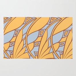 Modern art nouveau tessellations gamboge azure Rug