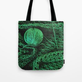 Green yarn Tote Bag