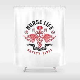 Nurse Life Shower Curtain
