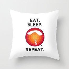 Eat. Sleep. Paragliding. Repeat. T Shirt Hanggliding TShirt Skydiving Shirt Vintage Gift Idea  Throw Pillow