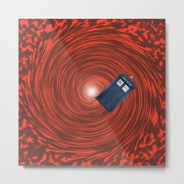 tardis in the red hole Metal Print