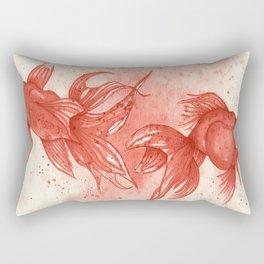 Carmine goldfishes Rectangular Pillow