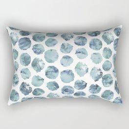 Pale Indigo Watercolor Dots Rectangular Pillow