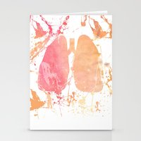 lungs Stationery Cards featuring lungs by divinerush