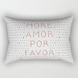 More Amor Rose Gold Rectangular Pillow