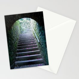 Ascension - petals on an old mossy stairwell Stationery Cards
