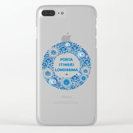 Porta itineri longissima The first step is the only difficulty Clear iPhone Case