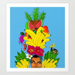 Tropical Carmen Art Print