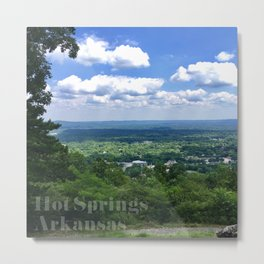 Scenic overlook of Hot Springs Arkansas Metal Print