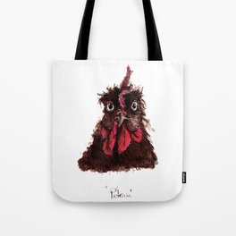 """Ink study of hen: """"Patricia"""" Tote Bag"""