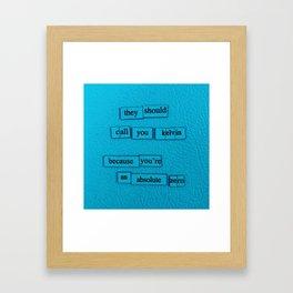 Kelvin Framed Art Print