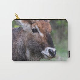 Portrait of a Male Waterbuck Carry-All Pouch