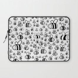 Bumble bee buzzers kid's mono art Laptop Sleeve