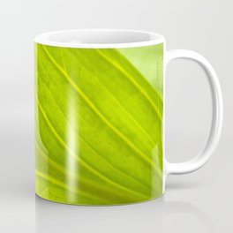 Green Leaf Abstract Coffee Mug
