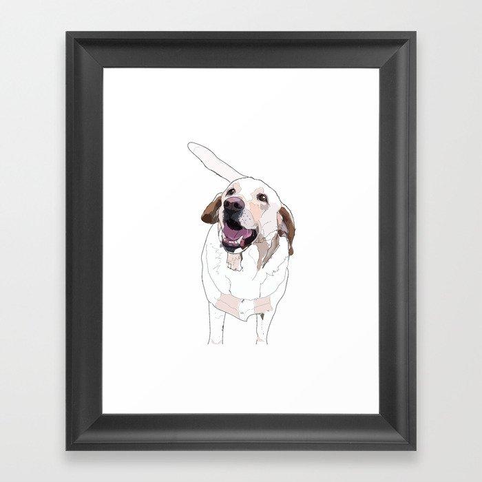 Labrador Dog (white) Gerahmter Kunstdruck