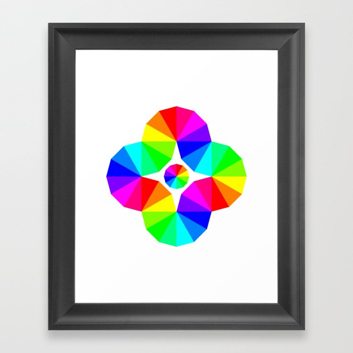 Twisted 12 Color Wheel Eye Framed Art Print By Chandlerklebs Society6