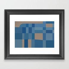 Palm Springs Blue Framed Art Print