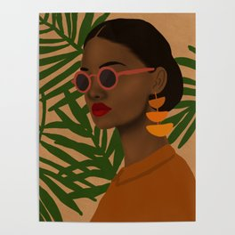 girl in shades Poster