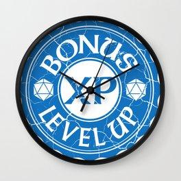 d20 Bonus XP Level Up Wall Clock