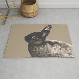 Little Rabbit on Sepia #1 #decor #art #society6 Rug