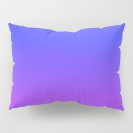 Neon Purple and Bright Neon Blue Ombré Shade Color Fade Pillow Sham
