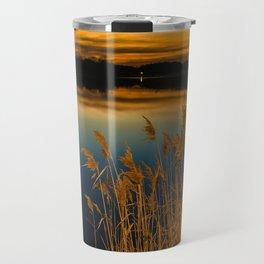 Nature Landscape Photography - Sunset at Reedy Point Pond Travel Mug