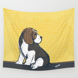 Beagle Puppy Portait by Friztin Wall Tapestry