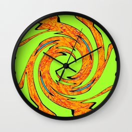 Groovy Green 2 Wall Clock