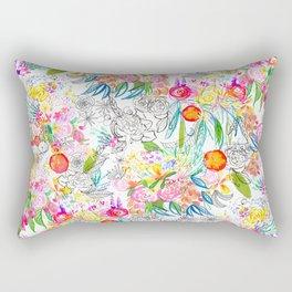 Tropical Botanical Sketchbook  Rectangular Pillow