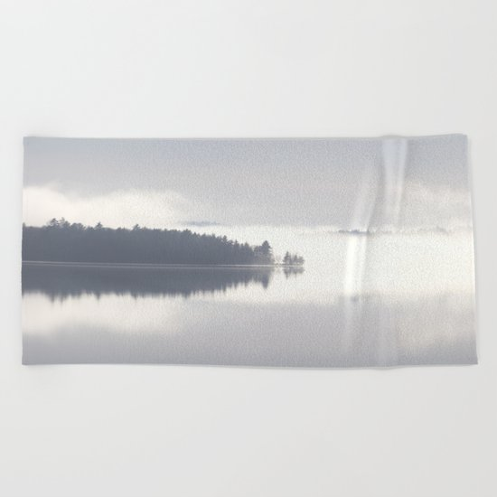 Reflecting By The Lake Beach Towel