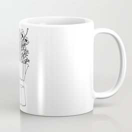 Moka Flowers - Coffee- BW Coffee Mug
