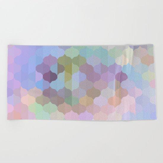 Pastel Geometric Abstract Beach Towel