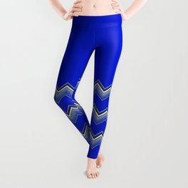 ZZIG A ZIGG AHH - Zig Zag, Blue, Fun, Bright, Repeat, Nursery Leggings