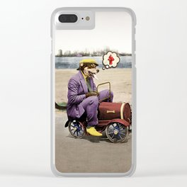 Barkin' Down the Highway! Clear iPhone Case