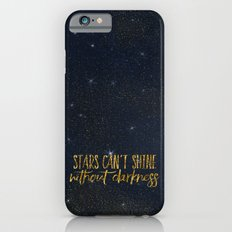 Stars- Darkness - sparkling gold glitter night typography 1 Slim Case iPhone 6s