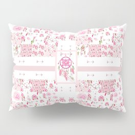 Shabby Chic Dream Catcher and feather Patchwork Pillow Sham