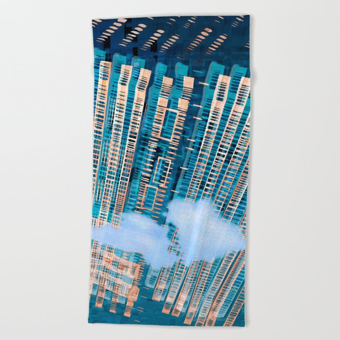 Cybernetic Memory Beach Towel
