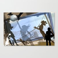 volleyball Canvas Prints featuring Anyone For Volleyball? by Robin Curtiss