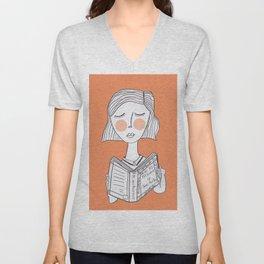 Reading Jane Austen is always a good idea. Unisex V-Neck