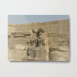 Temple of Medinet Habu, no. 3 Metal Print