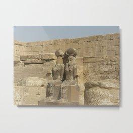 Temple of Medinet Habu, no. 3 Metal Print