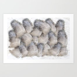 Glowing feathers Art Print
