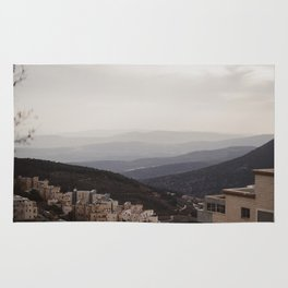 View of Mountains from Tzfat, Israel Rug